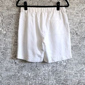 Anthropologie Shorts - Corey Lynn Calter White Linen Pleated Front Shorts